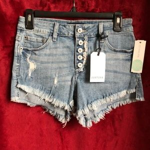 Gracelyn Distressed Denim Shorts